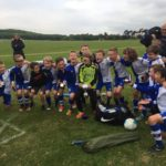 U10s aftter winning their second League Cup of the season