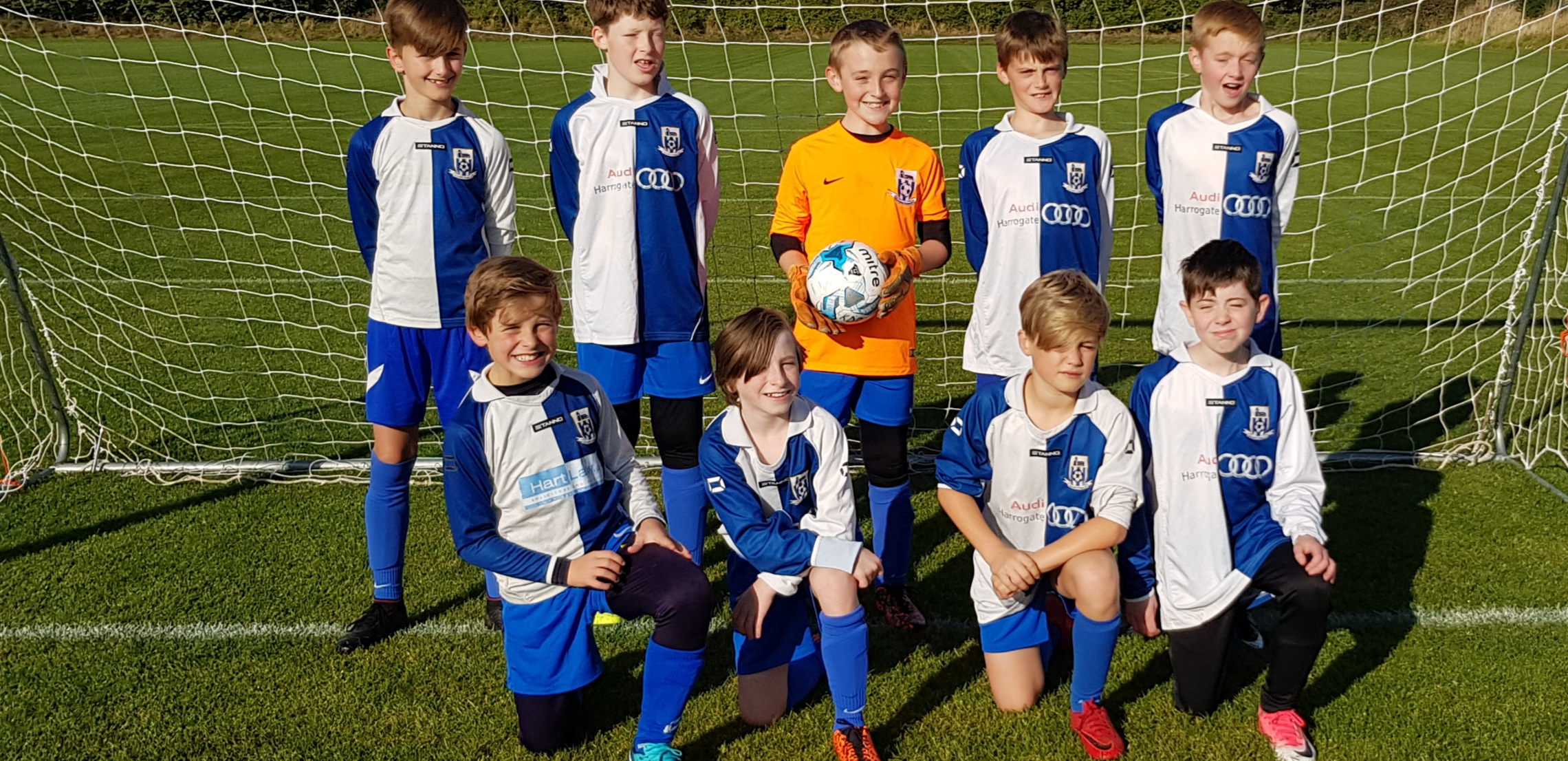 Sep 2018: The U12s team that beat Knaresborough Celtic 10-2 on September 30th