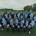 Jun 2018: U13s Girls with the City of York league trophy