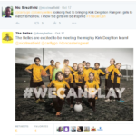 Oct 2015: Doncaster Belles tweet KDR Girls visit
