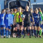 Jan 2019:  U14s Girls lead out the teams at the CNG Stadium